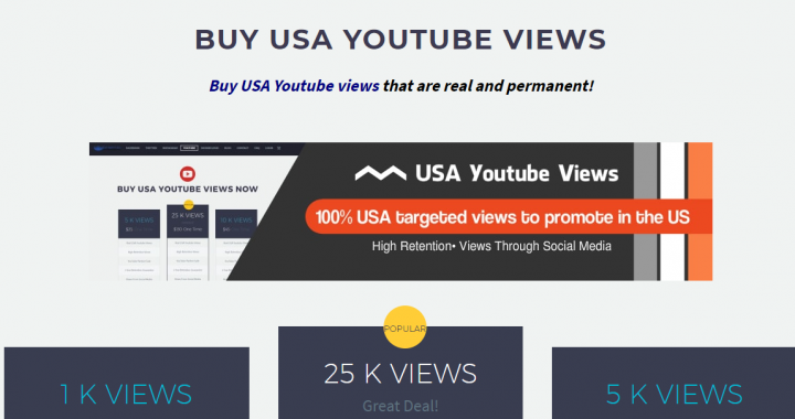 buy usa Youtube views