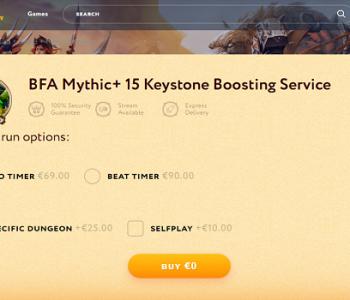 cheap wow mythic 15 keystone boost
